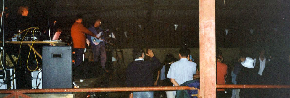 Barn dance after the Millennium Street Party