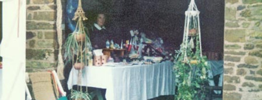Stall at Eydon's Great Country Fayre, 1980