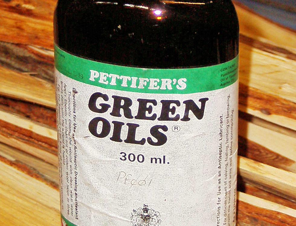 Pettifers Green Oil Bottle
