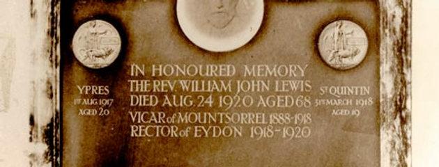 Rev. Lewis Memorial Tablet, Mountsorrel