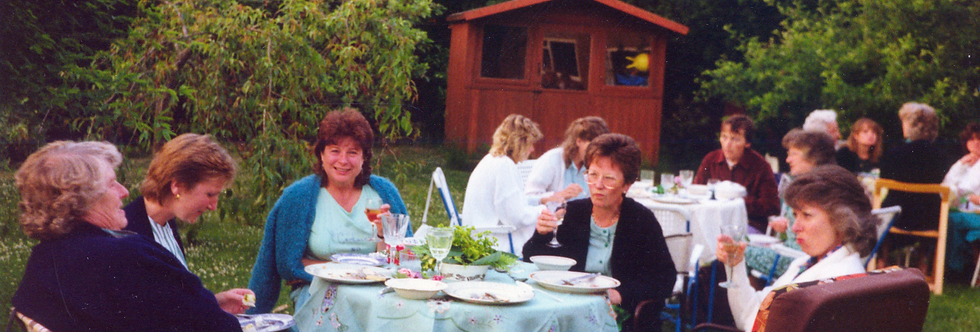 More WI in garden, late 1980s or early 1990s.