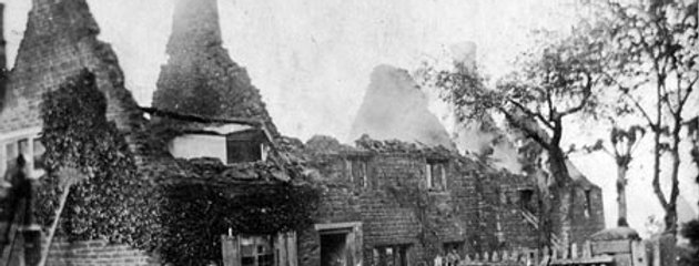 16 High Street during the Great Fire of Eydon
