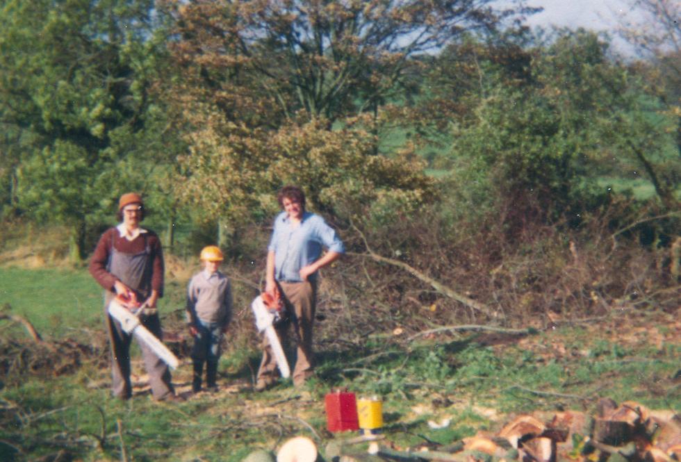 Cutting Wood, Harper's Hill, 1976