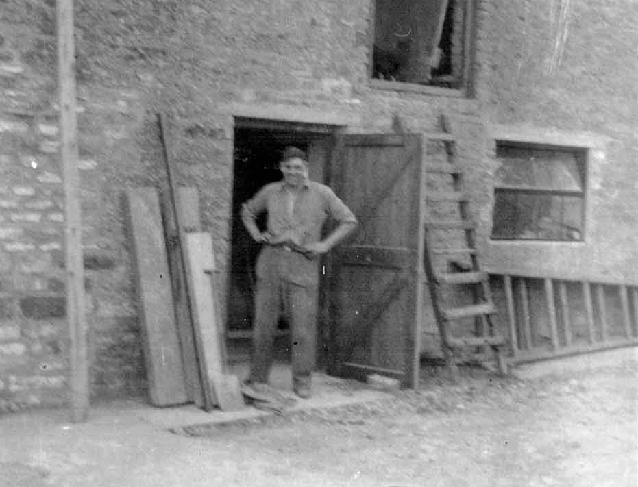 Fred Turner? at unknown work site