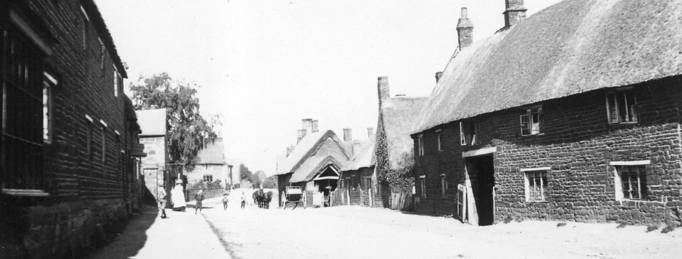 High Street, Eydon, looking north, 1898