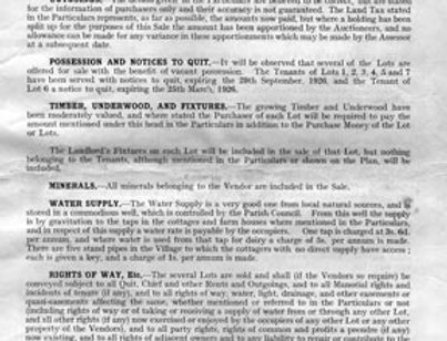 Catalogue, Sale of Eydon Estate 1925, Remarks and Stipulations