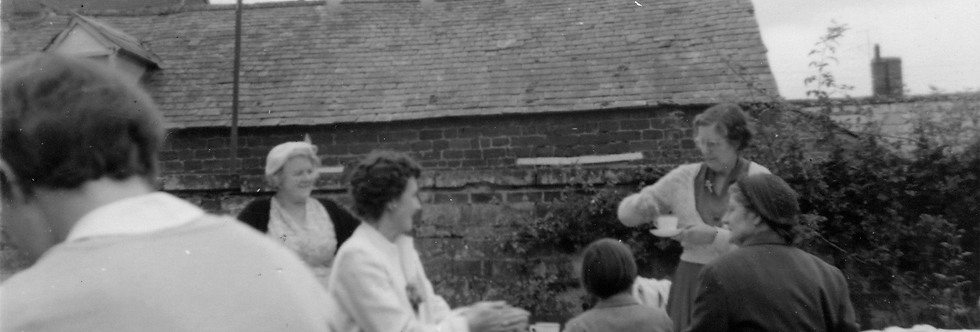 Tea Stall at Fete at Manor Farm, Post WW2