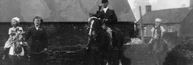 Mounted Riders in Eydon's Coronation Day Celebrations, 1953