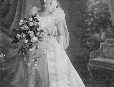 Enid Lillian Holland on her Wedding Day, 1899