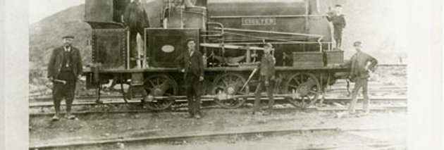 Five Men and a Boy on a Railway Engine