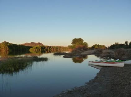 Canoe along the Orange River