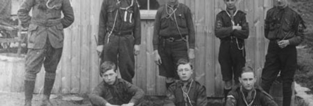 Scouts at Gedney on the Wash in Lincolnshire, 1915