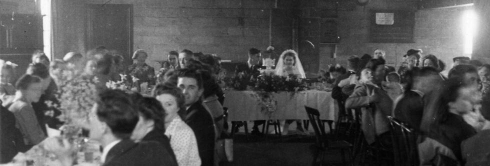 Kath Edwards and Bill Allen's Wedding Reception. 1948