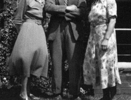 The Bricknells outside the Royal Oak, 1950s