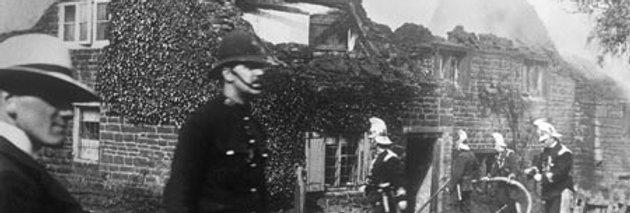 Firemen at Great Fire of Eydon, 1905