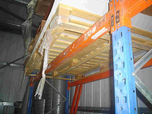 Pallet far to big for rack and unsafe re