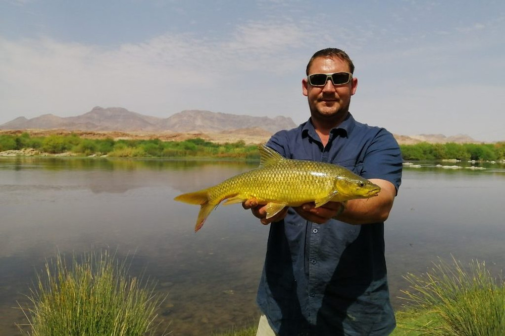 Sandfontein's expert guides will show you the best fishing spots on the Orange River
