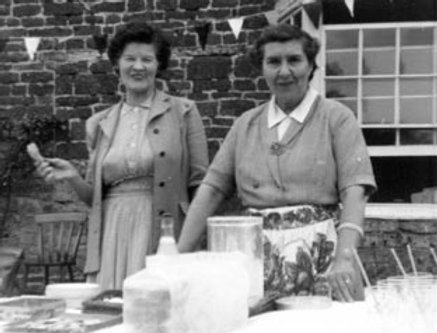 Helpers at Fete at Manor Farm, 1960s