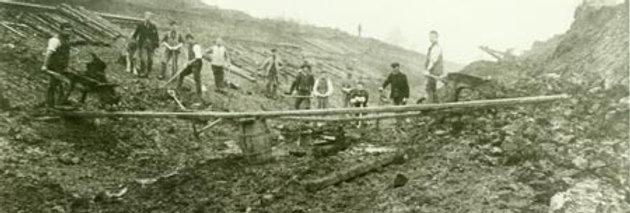 Navvies Digging Railway Cutting