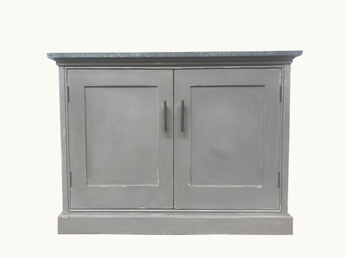 Really Useful Cupboard with a reclaimed  Zinc top