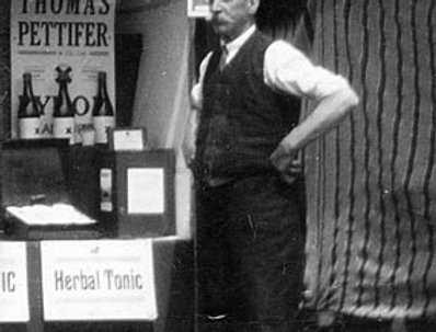 John Bishop manning the Pettifer's stall at a show