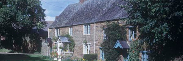 Cottages on The Green at Eydon c.1965