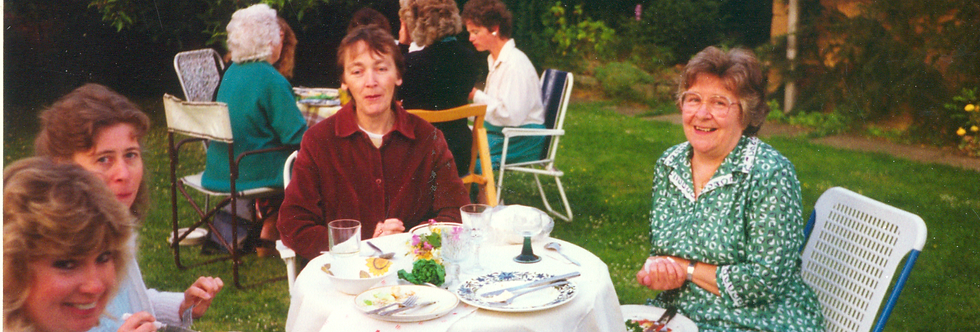 WI teas in garden, late 1980s or early 1990s.