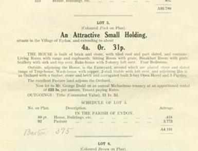 Catalogue, Sale of Eydon Estate 1925, Page 8