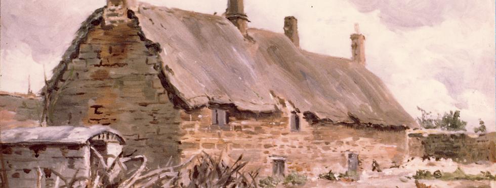 Painting of 5 Blacksmiths Lane c1900s