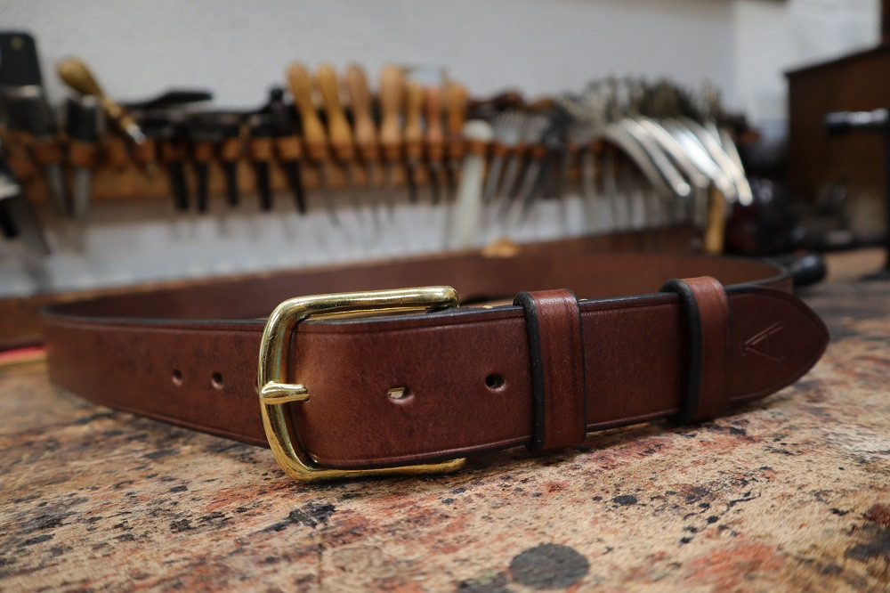 The finished hand-made belt.