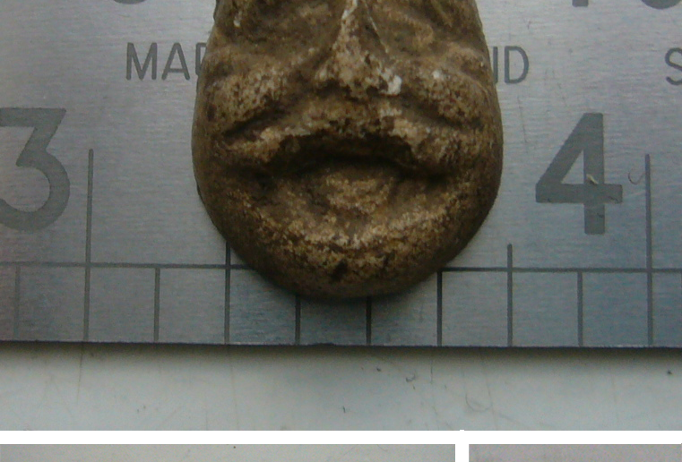 Clay head/mask, maybe a dolls' face