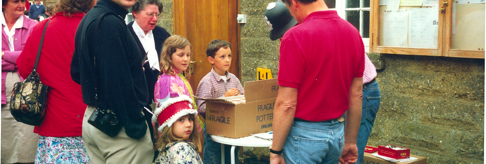 Distributing the Memorial Mugs, Street Party, 1992