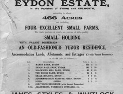 Catalogue, Sale of Eydon Estate 1925, Title Page
