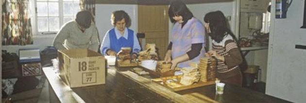 Sandwich Preparation in the Village Hall, 1981