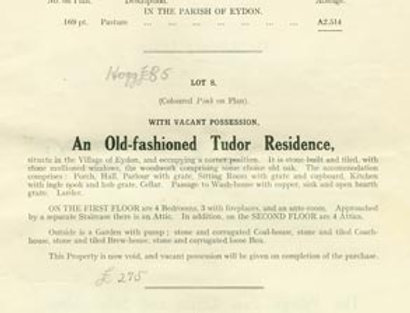 Catalogue, Sale of Eydon Estate 1925, Page 9