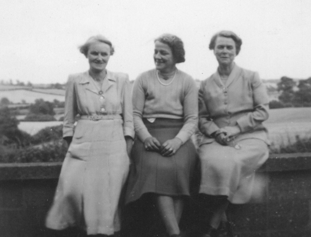 Kench Sisters with a family friend late 1930s