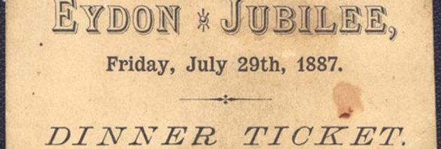 Dinner Ticket, Queen Victoria's Golden Jubilee, 1887