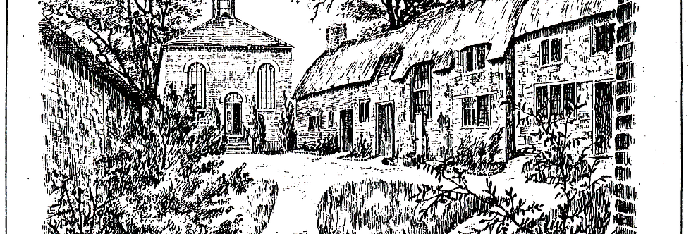 Drawing of Moravian Chapel and Yard