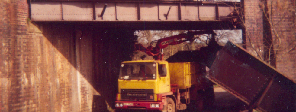 Removal of Railway Bridge, Moreton Road, c1980
