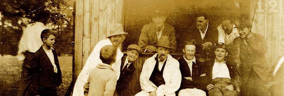 Group of Happy Cricketers around 1930s