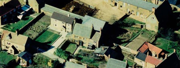 1960s Aerial Photo of Sheen and Sunny Bank Cottages, Blacksmiths Lane