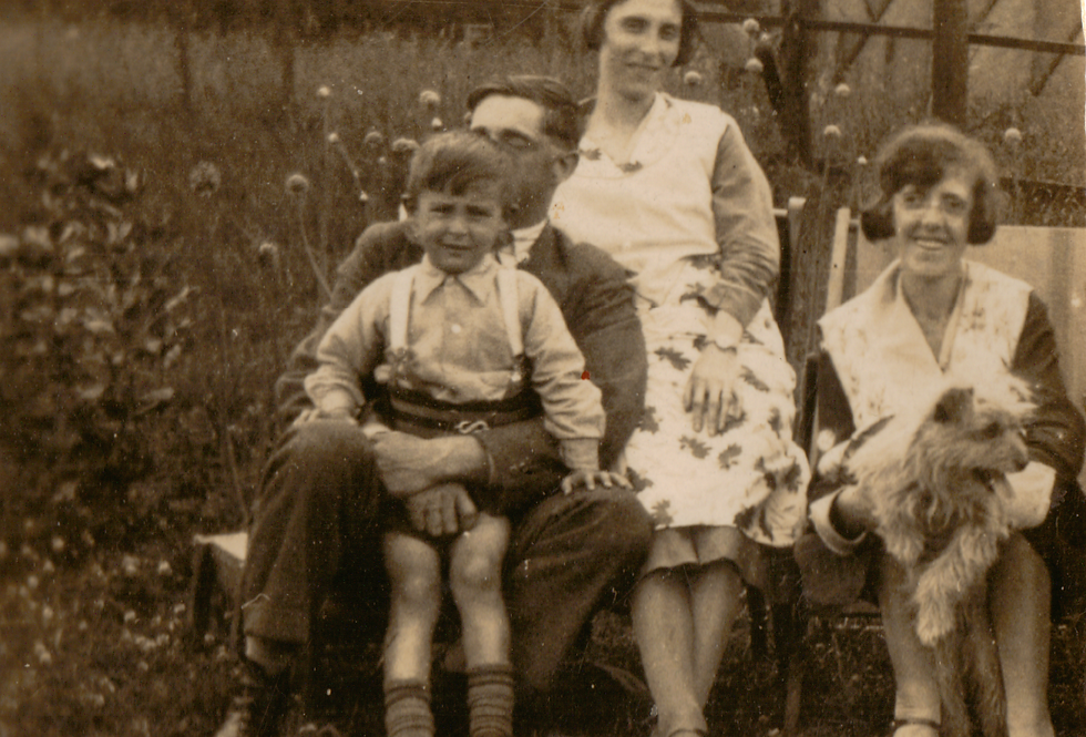 John Arthur Gubbins with his family and sister