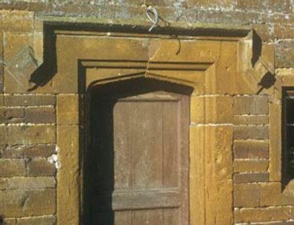Carved Door Frame and Sundial, the Stone House, Barnett's Hill
