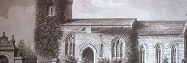 Another View of Eydon Church from south, 1840s