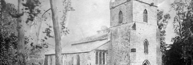Sun Picture of Eydon Church from North West, 1868