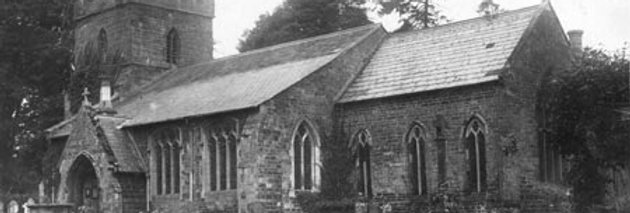 Postcard of St Nicholas Church, Eydon, 1912