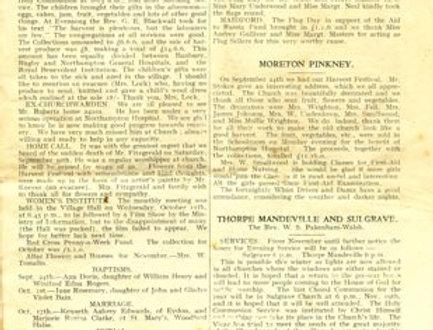 Wartime Parish Magazine, Eydon Page