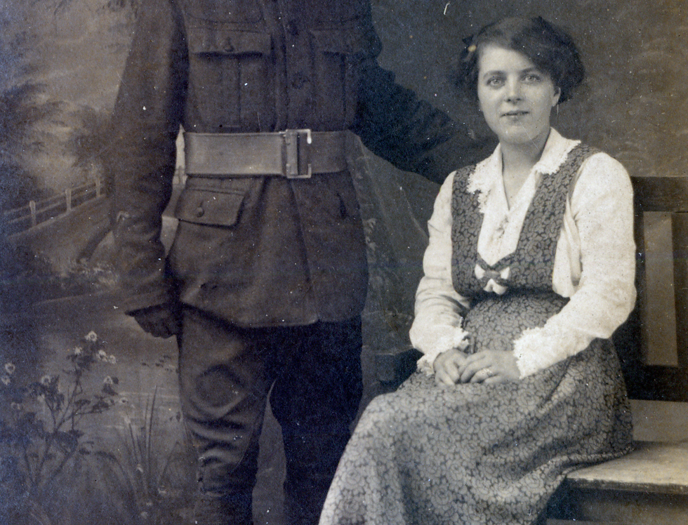 Sid and Lucy Edwards, c1918
