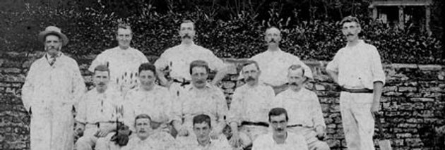 Cricket Team outside Eydon Hall