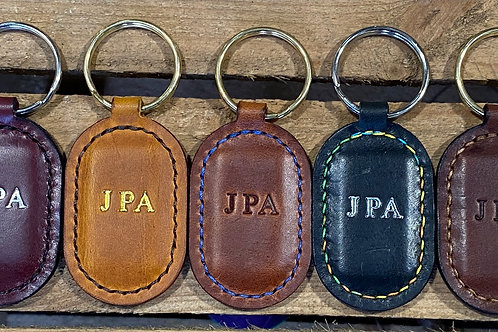 Handmade English Leather Key Fobs